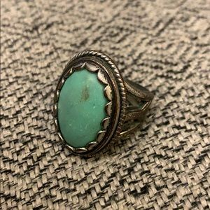Statement Turquoise Ring in Size 8
